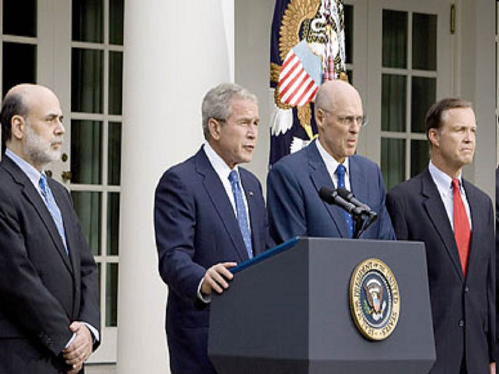 Bush announces the end of capitalism