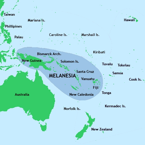 Map Of Australia New Zealand And Papua New Guinea.Background Information On New Guinea